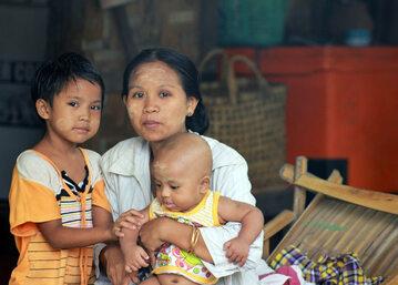 Mieszkańcy Mjanmy