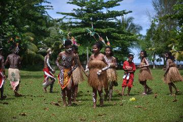 Mieszkańcy wyspy Biak w Indonezji