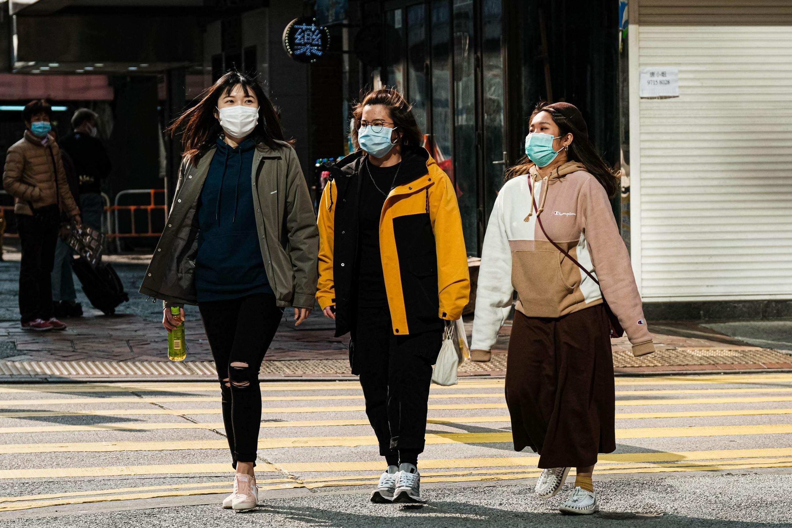 Mieszkanki Hongkongu po wybuchu epidemii koronawirusa