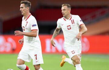Milik i Grosicki w meczu reprezentacji Polski