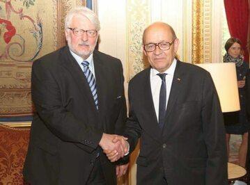 Minister spraw zagranicznych Witold Waszczykowski i szef MSZ Francji Jean Yvesem Le Drian