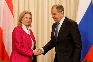 Ministrowie Spraw Zagranicznych – Austrii Karin Kneissl oraz Rosji Siergiej Ławrow