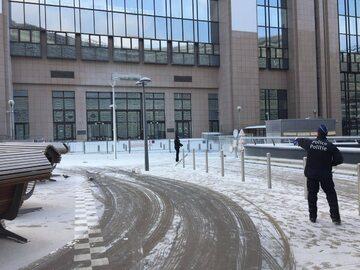 Mleko w proszku przed siedzibą Rady Europejskiej