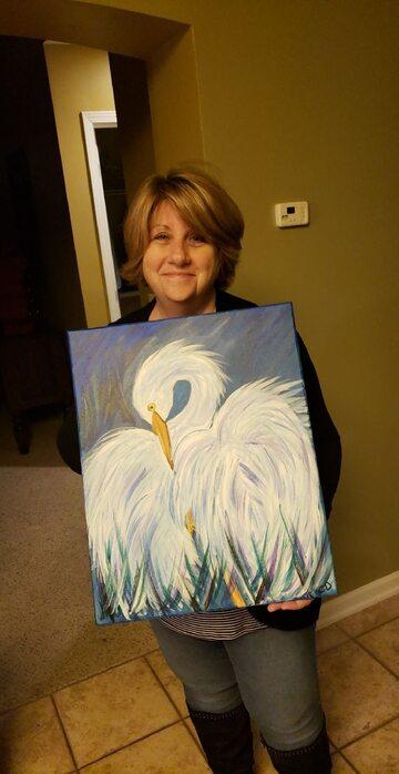 """""""Moja mama namalowała to i powiedziała, że nikomu się nie spodoba. To jej drugi obraz"""""""