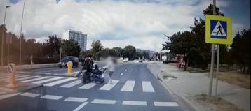 Moment uderzenia motocyklu w wózek