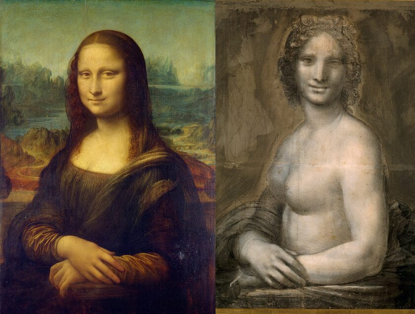 """Mona Lisa"", ""Joconde Nue"""
