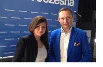 Monika Rosa i Paweł Rabiej