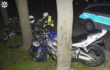 Motocykle, biorące udział w wypadku