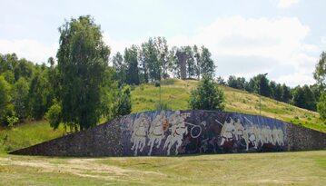 Mozaika i pomnik upamiętniające bitwę pod Cedynią