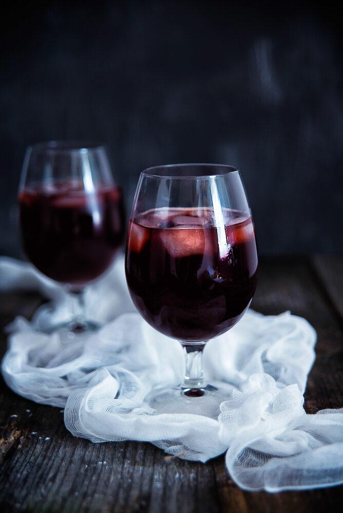 Mrożony napój o smaku owoców leśnych