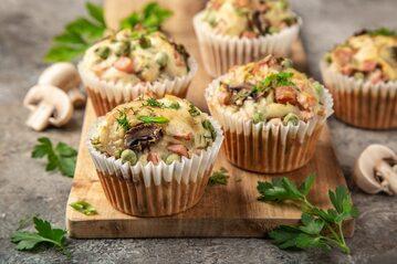 Muffiny z grzybami