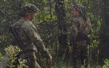 Mundurowi na po stronie białoruskiej – materiały Straży Granicznej