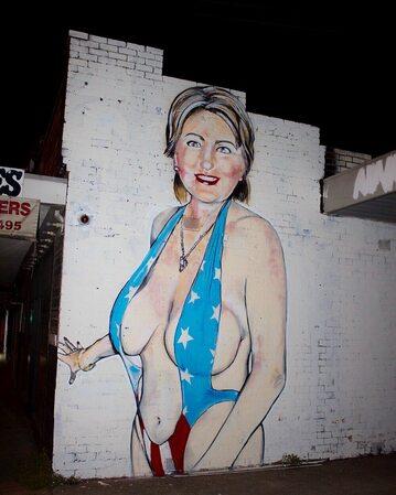 Mural z Hillary Clinton