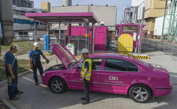 Na gazie z instalacji Tauronu jeździ już jeden z firmowych samochodów