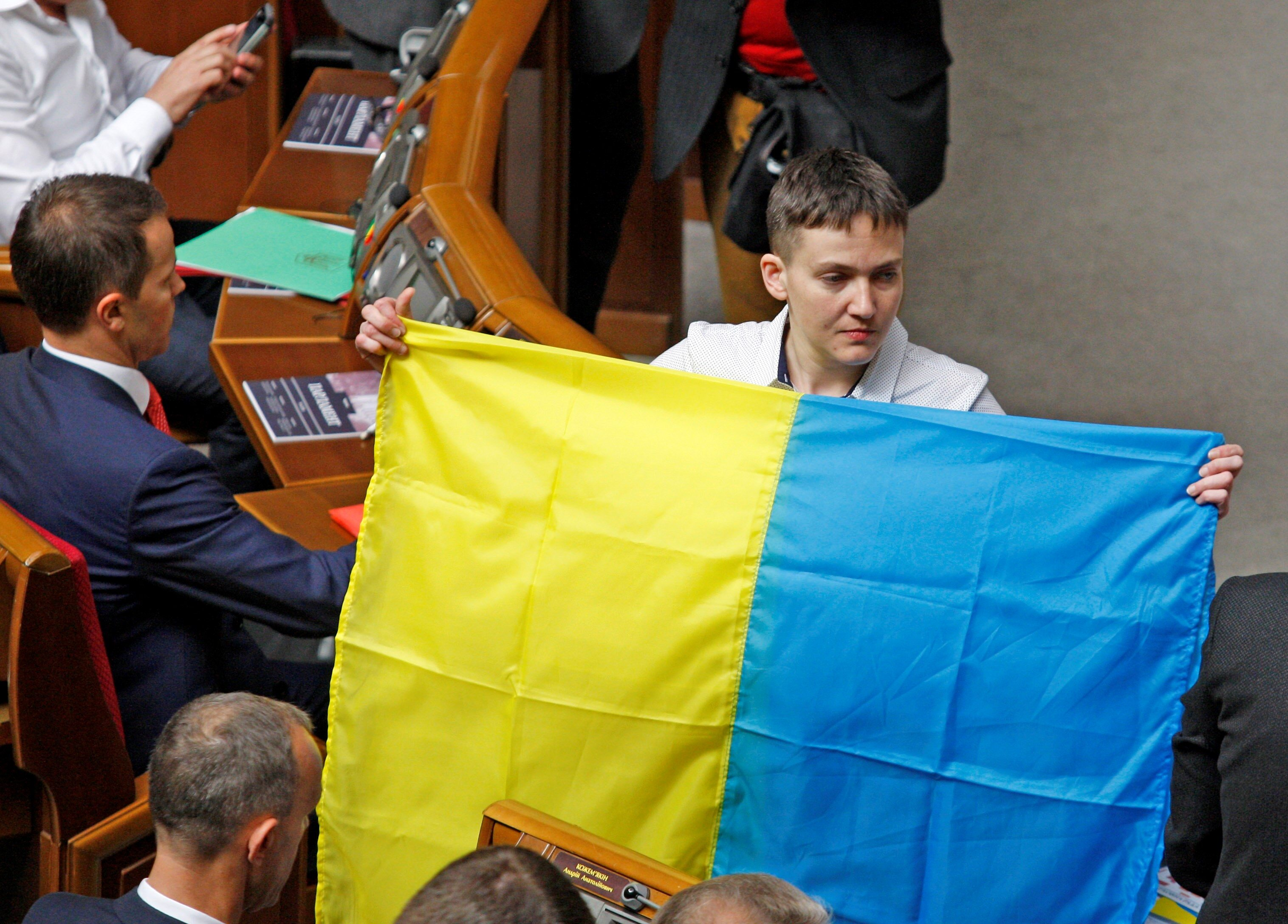 Nadia Sawczenko w ukraińskim parlamencie