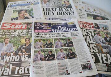Nagłówki brytyjskich gazet o wywiadzie Harry'ego i Meghan