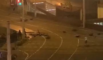 Nagranie z protestów w Mińsku