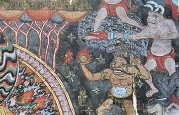 Najwcześniejsze znane przedstawienie ognistej lancy i granatów