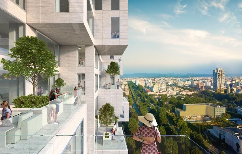 Najwyższy budynek w Albanii