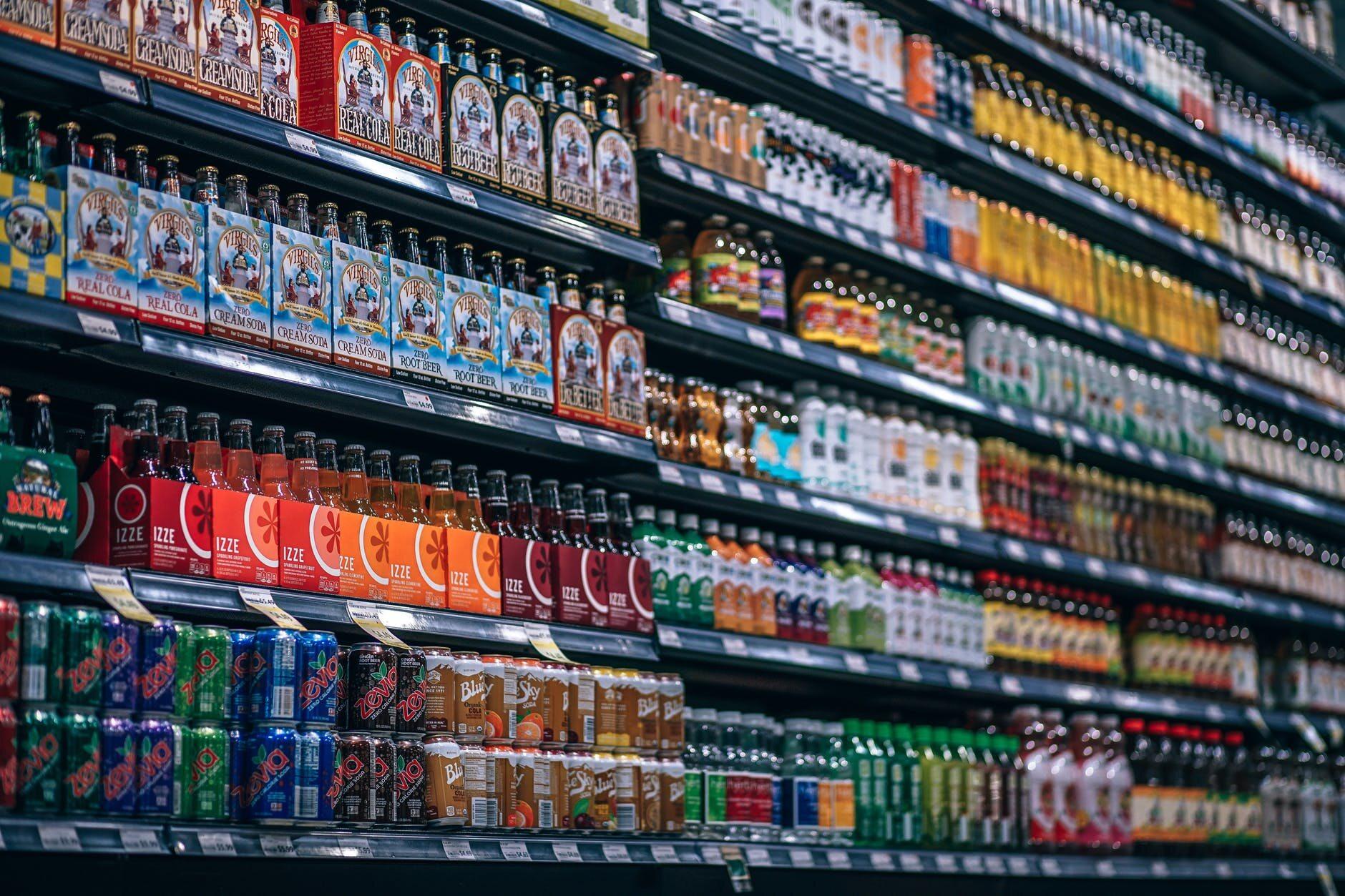 Napoje w sklepie