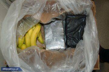 Narkotyki ukryte w transporcie bananów trafiły do Polski