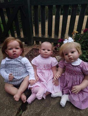 Natasha Harridge ze swoimi lalkami