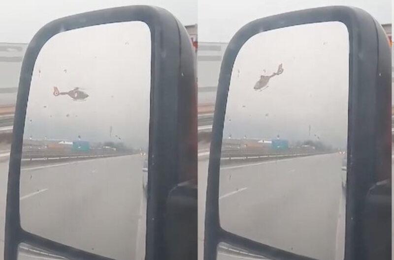 Niebezpieczna sytuacja na autostradzie A4