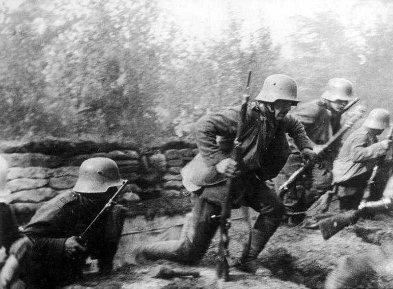 Niemieccy żołnierze podczas pierwszej wojny światowej