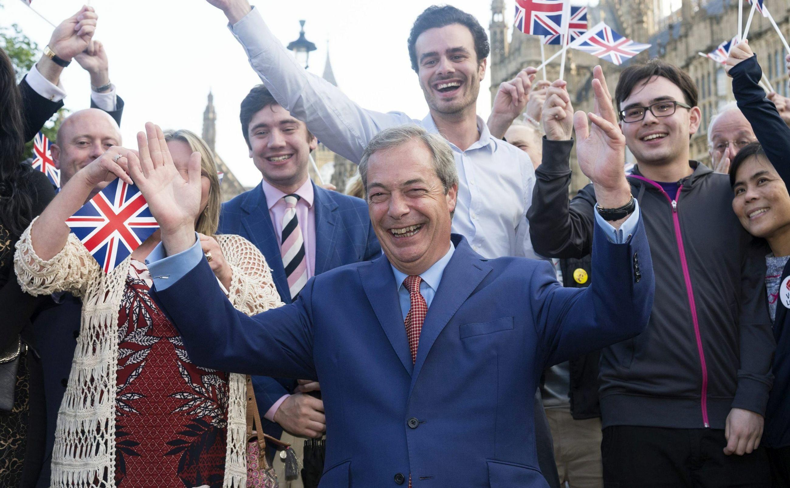 Nigel Farage po ogłoszeniu wyników referendum ws. Brexitu