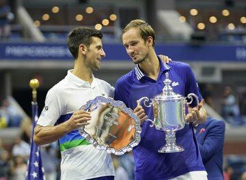 Novak Djokovic i Daniił Miedwiediew