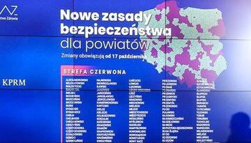 Nowa lista powiatów w strefach czerwonych