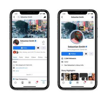 Nowa wersja i stara wersja aplikacji Facebooka