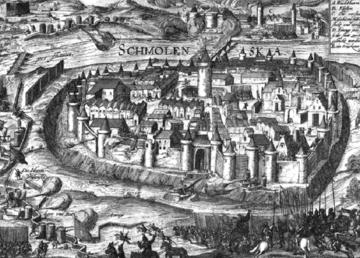 Oblężenie Smoleńska (akwaforta autorstwa Georga Kellera, 1610 rok)