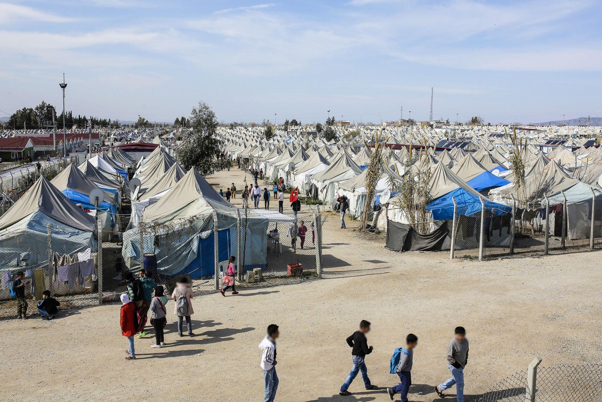 Obóz dla uchodźców w Syrii