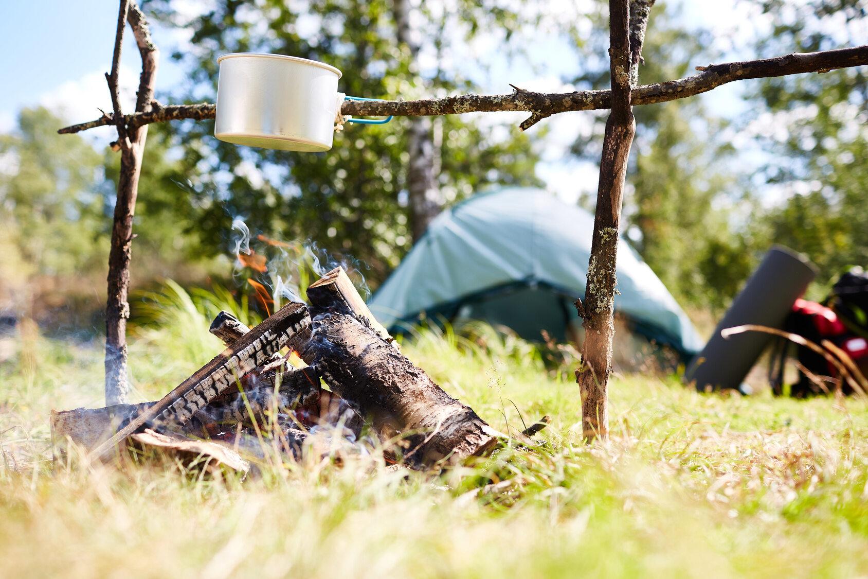 Obóz harcerski, zdjęcie ilustracyjne