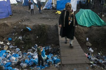 Obóz Moria na wyspie Lesbos