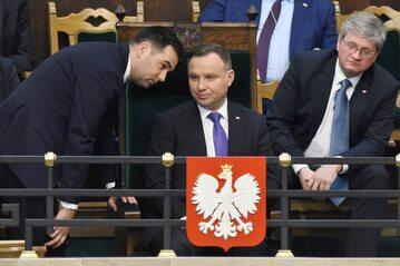 Od lewej: Bartłomiej Spychalski, Andrzej Duda, Paweł Soloch