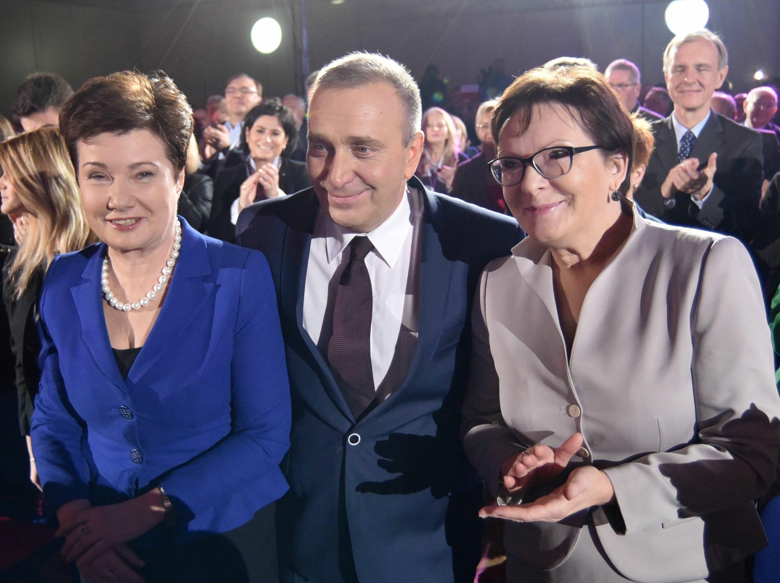 Od lewej: Hanna Gronkiewicz-Waltz, Grzegorz Schetyna, Ewa Kopacz