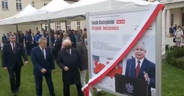 """Odsłonięcie wystawy """"Lech Kaczyński. Człowiek Solidarności"""""""