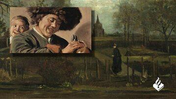 """""""Ogród przy plebanii w Nuenen wiosną"""" Van Gogha i """"Dwóch śmiejących się chłopców"""" Halsa"""