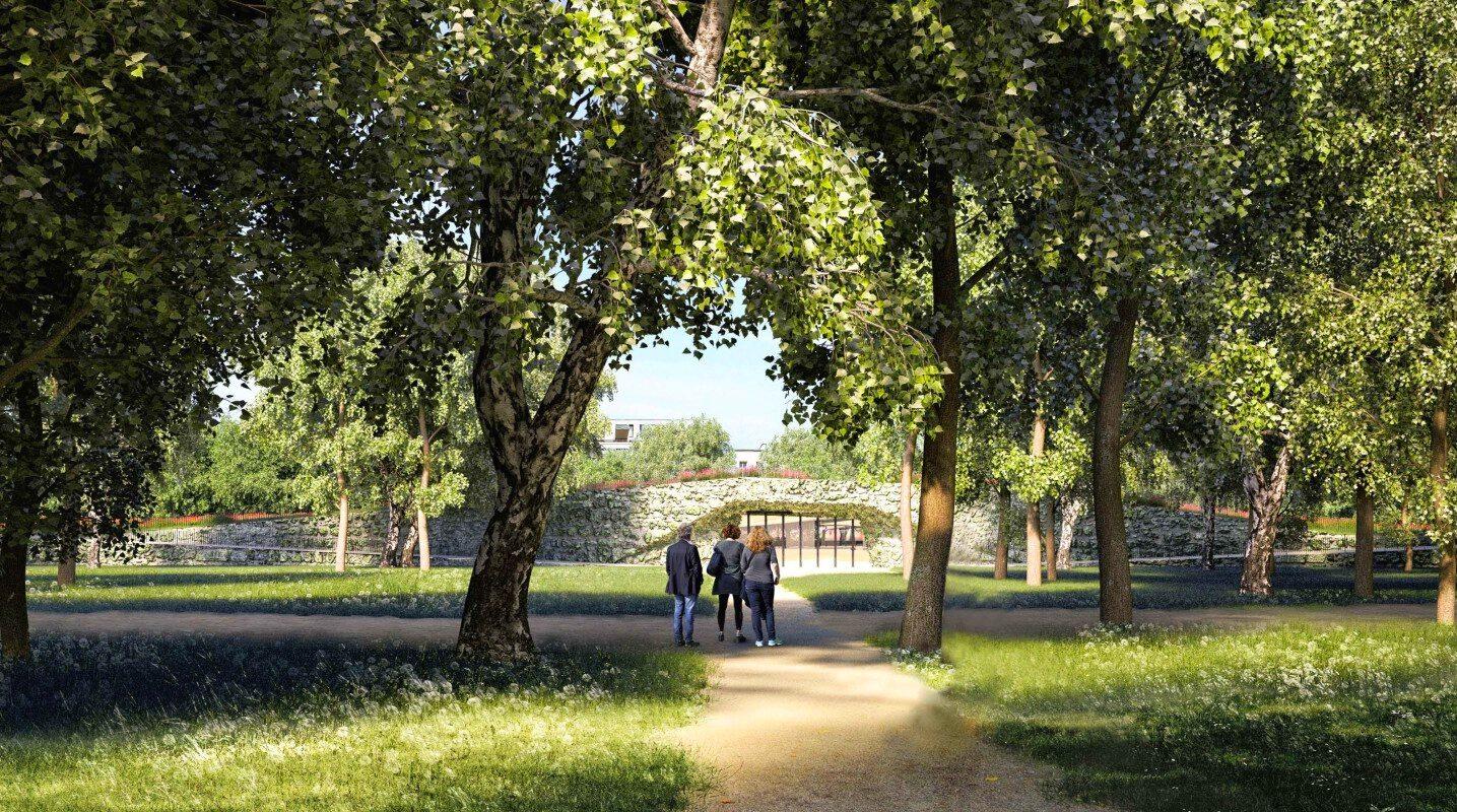 Ogród XXI wieku - Łazienki Królewskie - wizualizacja