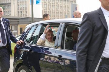 Ojciec Święty z wizytą u kardynała Macharskiego