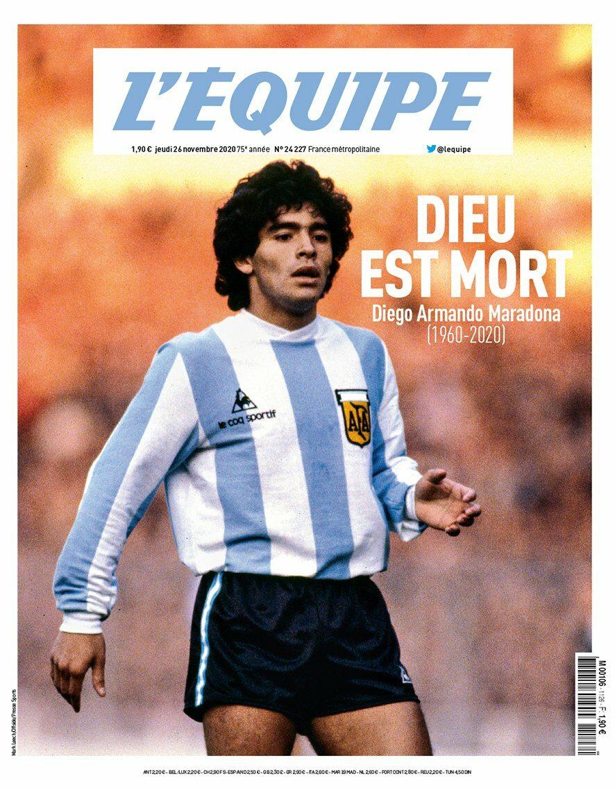 Okładka dziennika L'Equipe