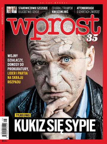 """Okładka """"Wprost"""" 25/2018"""