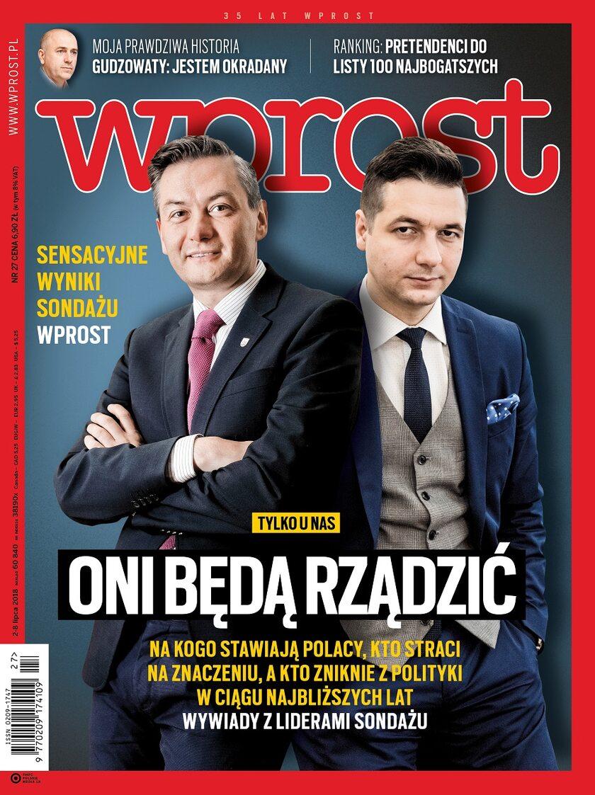 """Okładka """"Wprost"""" nr 27/2018"""