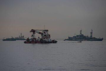 Okręty poszukiwawcze, które prowadzą operację po katastrofie Tu-154