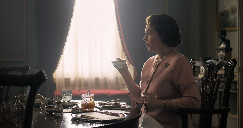 "Olivia Colman w serialu ""The Crown"""