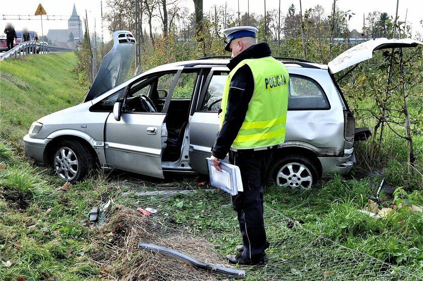 Opel Zafira biorący udział w wypadku