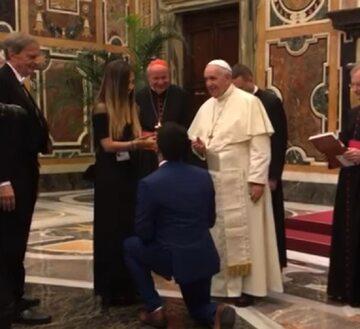 Oświadczyny przed papieżem