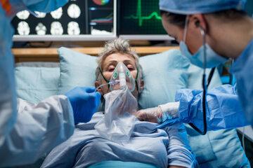 Pacjentka w trakcie tlenoterapii